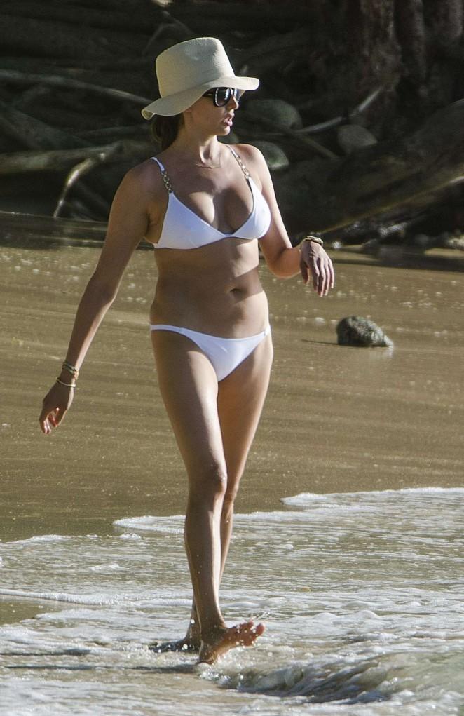 Lauren Silverman in White Bikini -10