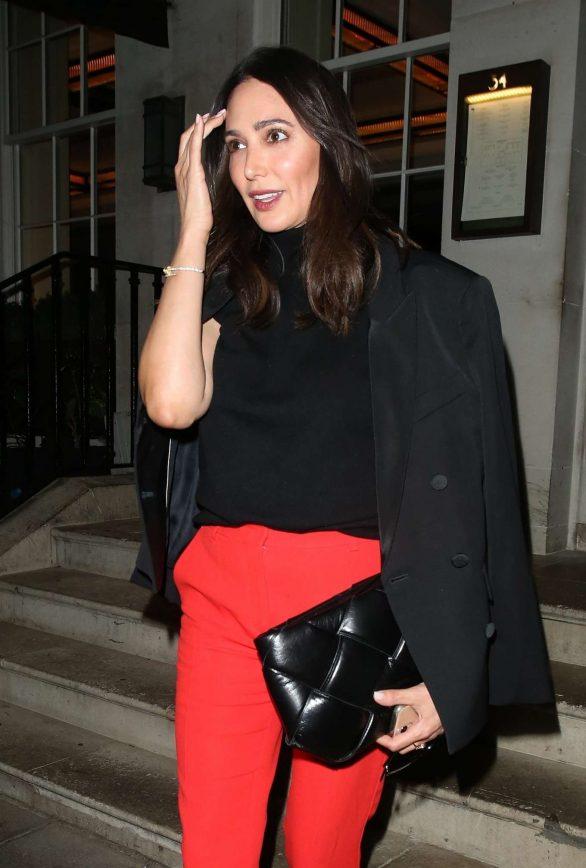 Lauren Silverman - Leaving 34 Restaurant in Mayfair