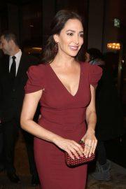 Lauren Silverman - Leaving the Royal Lancaster Hotel in London