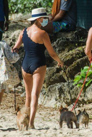 Lauren Silverman - Seen at the beach in Bridgetown - Barbados