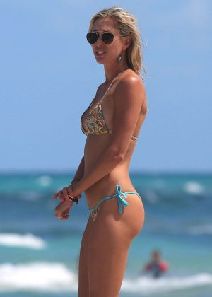 Lauren Stoner in Bikini at the beach in Miami