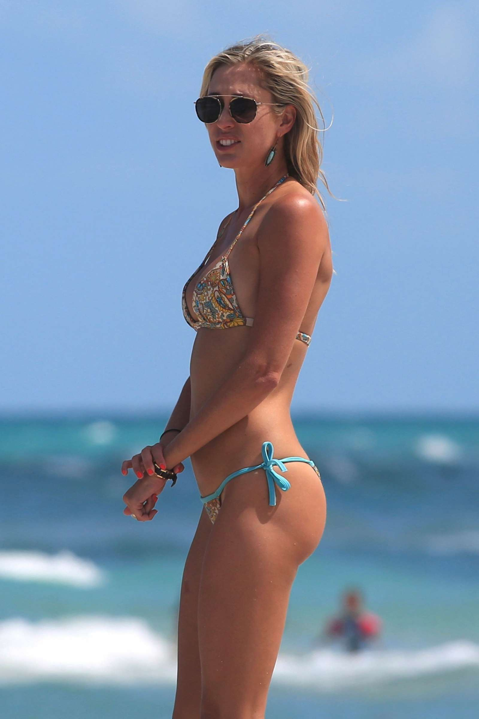 Lauren Stoner in Bikini at the beach in Miami