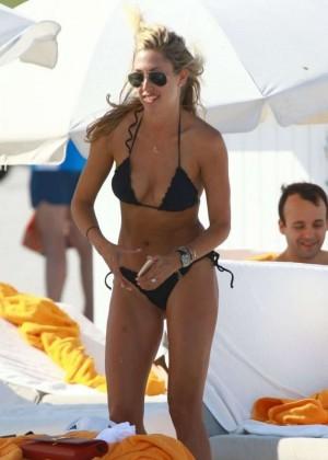 Lauren Stoner in Black Bikini in Miami