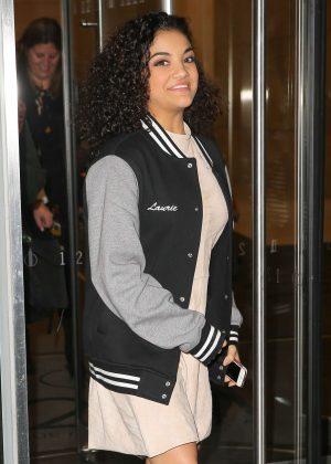 Laurie Hernandez at SiriusXM Radio in New York