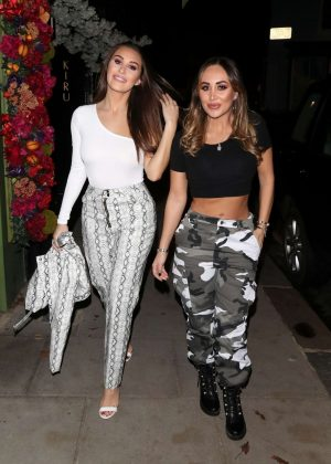 Lauryn and Chloe Goodman - Arrives at Japanese Restaurant Kiru in London