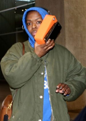 Lauryn Hill at Charles de Gaulle Airport in Paris