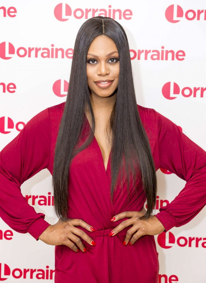 Laverne Cox at 'Good Morning Britain' TV Show in London