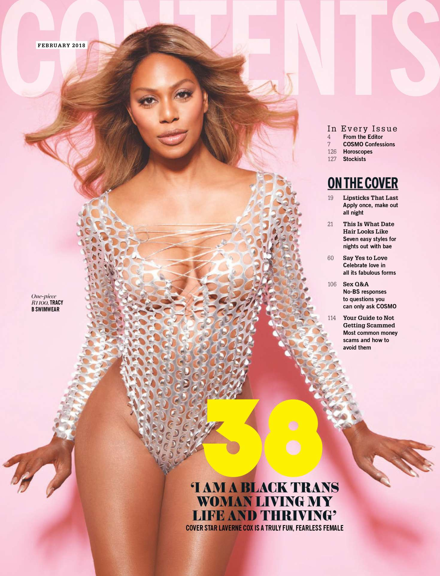 Laverne Cox 2018 : Laverne Cox: Cosmopolitan South Africa 2018 -07