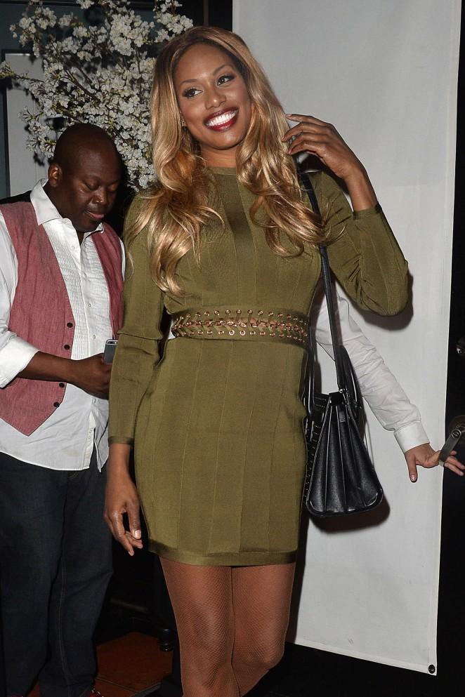 Laverne Cox Leaves an LA Film Critics Party in Hollywood