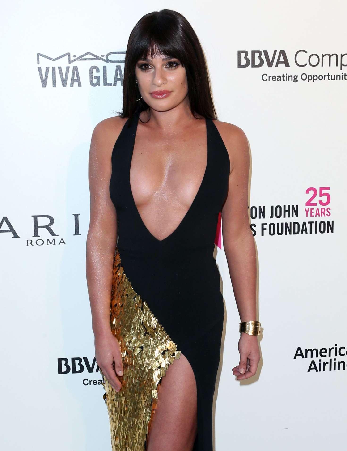Lea Michele 2018 : Lea Michele: 2018 Elton John AIDS Foundations Oscar Viewing Party -03