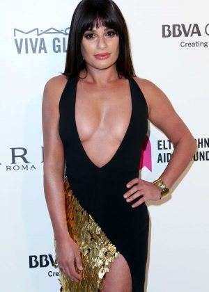 Lea Michele - 2018 Elton John AIDS Foundation's Oscar Viewing Party in West Hollywood