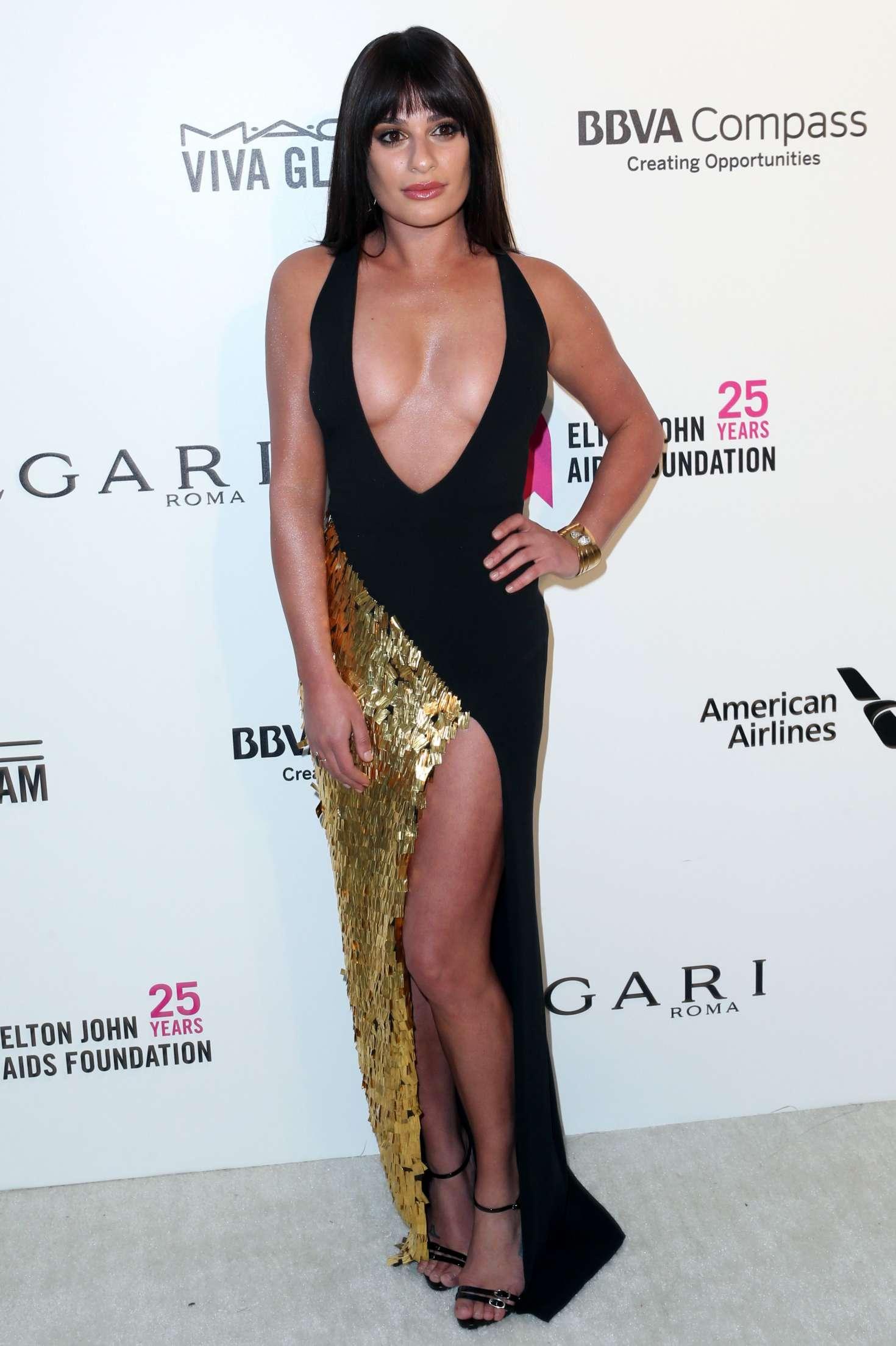 Lea Michele 2018 : Lea Michele: 2018 Elton John AIDS Foundations Oscar Viewing Party -05