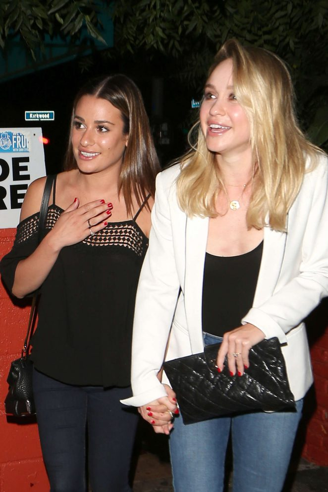 Lea Michele and Becca Tobin Leaving the Pace Restaurant in LA