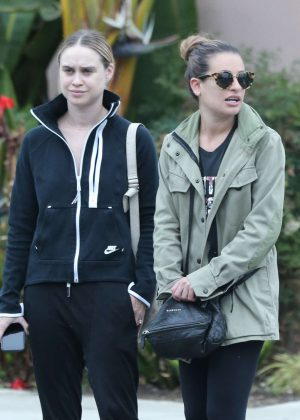Lea Michele and Becca Tobin - Out in Hollywood