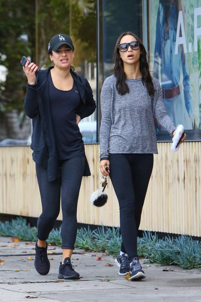 Lea Michele and Cara Santana - Shopping on Melrose Place in West Hollywood