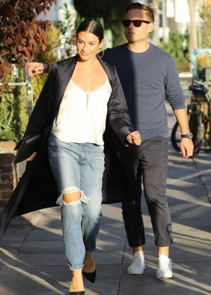 Lea Michele and Zandy Reich - Out in Santa Monica