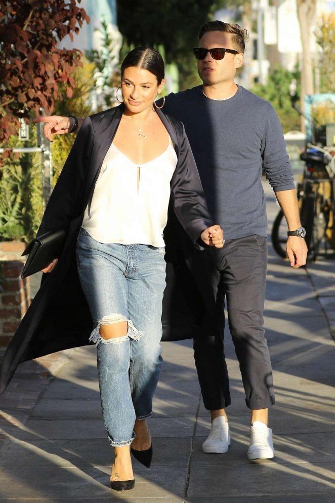 Lea Michele and Zandy Reich - Out in Santa Monica