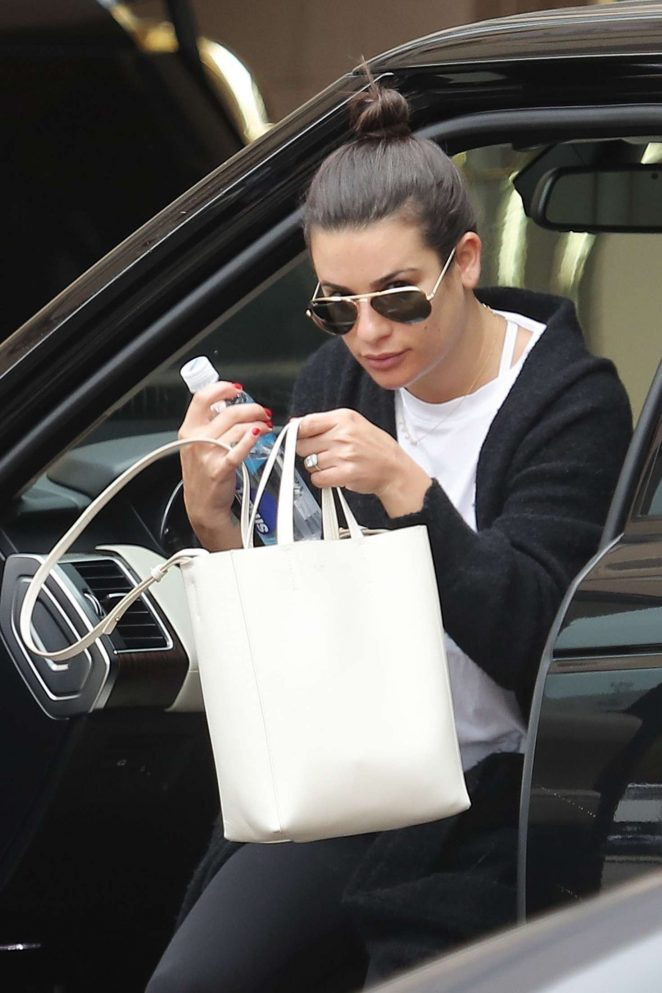 Lea Michele - Arrives at the Montage Beverly Hills