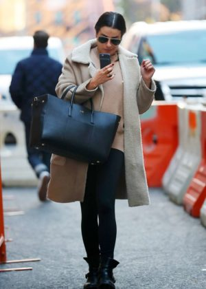 Lea Michele - Arrives in New York City