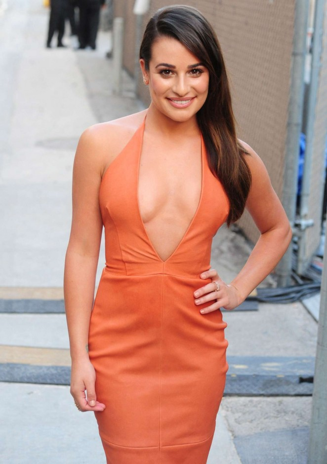 Lea Michele - Arriving at 'Jimmy Kimmel Live' in Hollywood