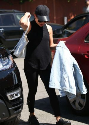 Lea Michele Arriving at MCafe in Los Angeles
