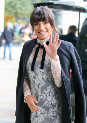 Lea Michele at BBC Radio One studios in Manchester