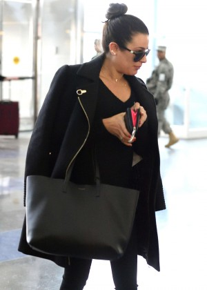 Lea Michele at JFK Airport in New York