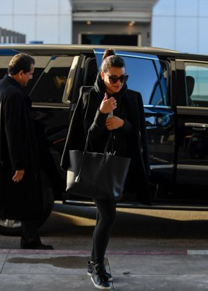 Lea Michele at LAX Airport in Los Angeles