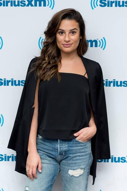 Lea Michele at SiriusXM Studios in New York City