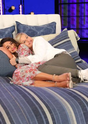 Lea Michele at The Ellen DeGeneres Show in Burbank