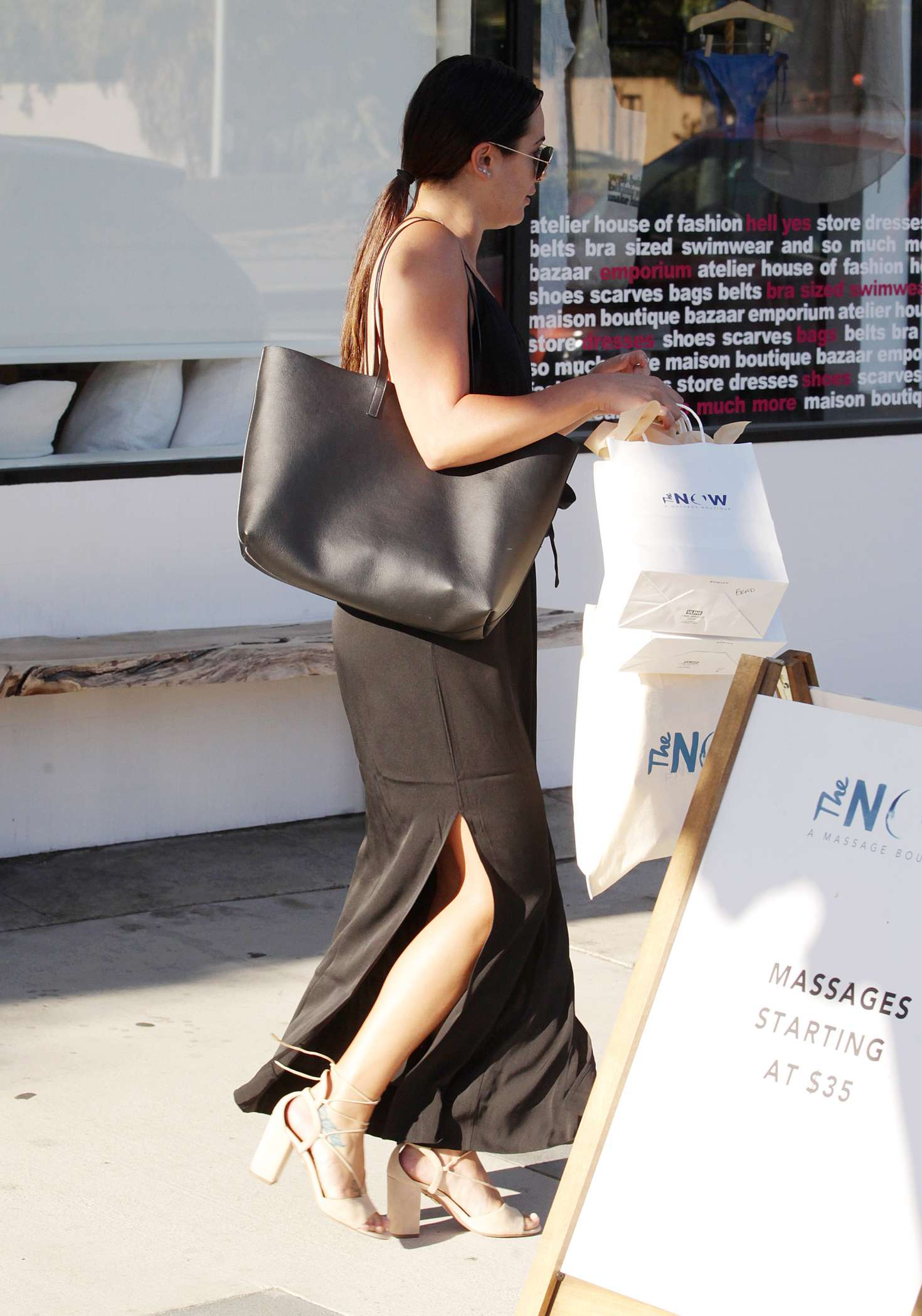 Lea michele at the now massage boutique 08 gotceleb for Lea boutique