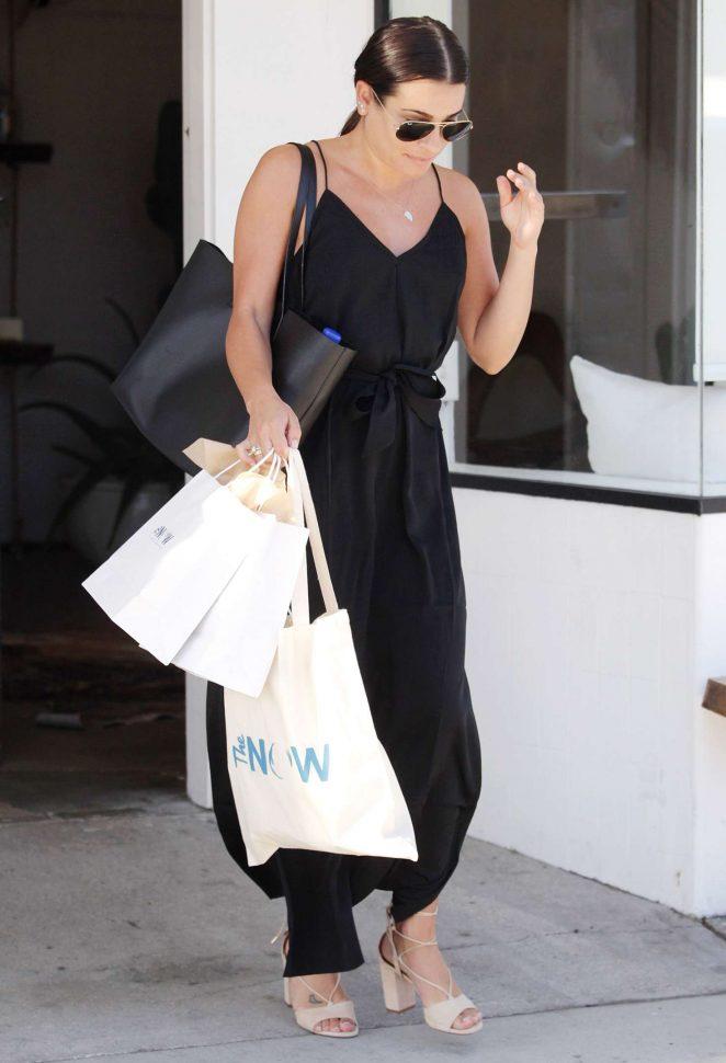 Lea michele at the now massage boutique 13 gotceleb for Lea boutique