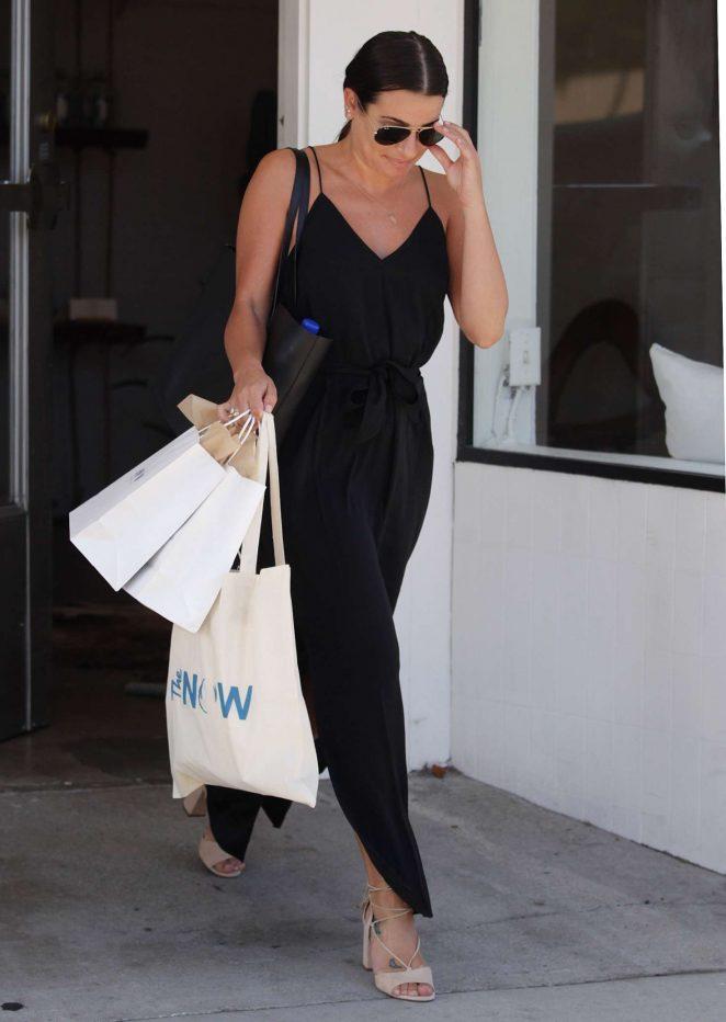 Lea michele at the now massage boutique 18 gotceleb for Lea boutique
