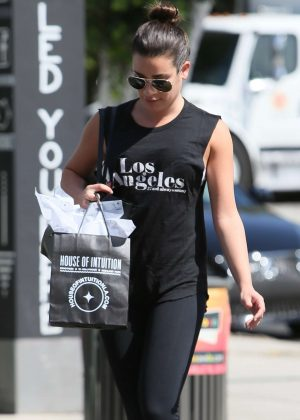 Lea Michele - Buying a Candle at House of Intuition in Los Angeles
