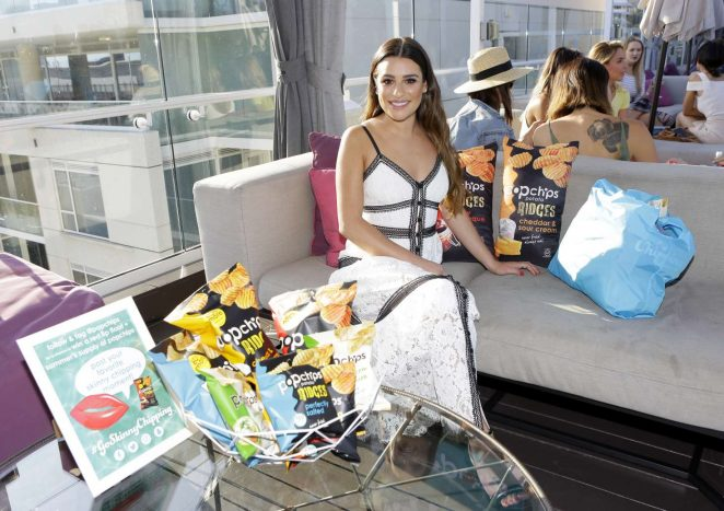 Lea Michele Celebrates Popchips 10th birthday -01