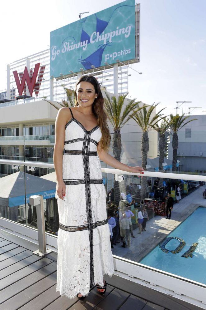 Lea Michele Celebrates Popchips 10th birthday -02