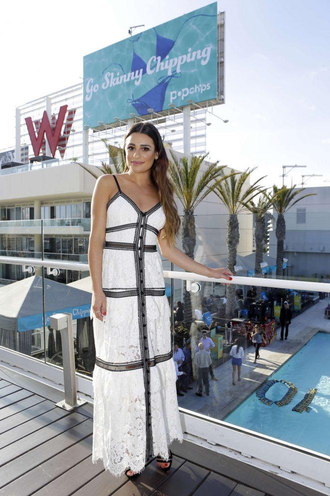Lea Michele Celebrates Popchips 10th birthday -04