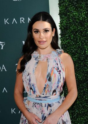 Lea Michele - CFDA Variety and WWD Runway to Red Carpet in LA