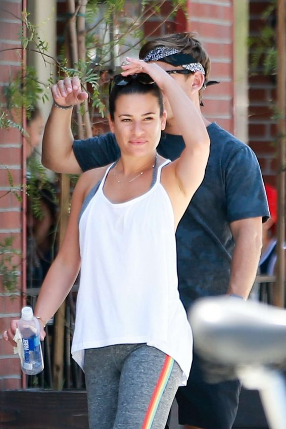 Lea Michele - Grab lunch at Cafe Gratitude in Venice Beach