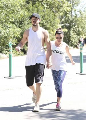 Lea Michele with boyfriend Hiking -01