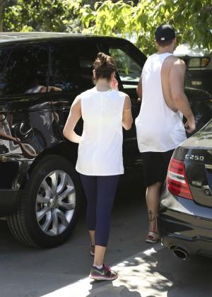 Lea Michele with boyfriend Hiking -03