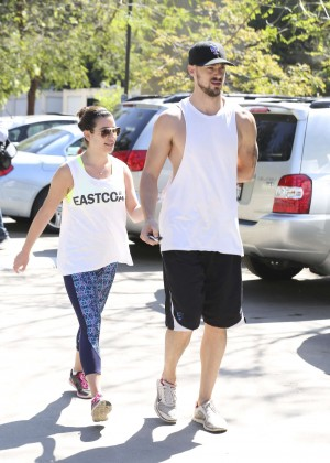 Lea Michele with boyfriend Hiking at TreePeople in Beverly Hills