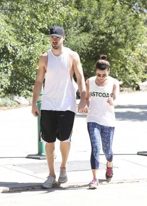 Lea Michele with boyfriend Hiking -07