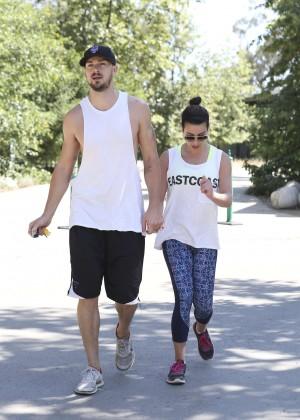 Lea Michele with boyfriend Hiking -09