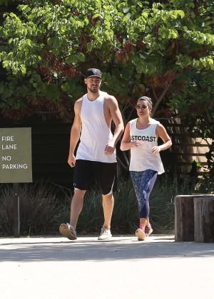Lea Michele with boyfriend Hiking -11