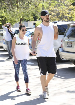 Lea Michele with boyfriend Hiking -12