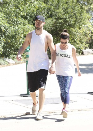 Lea Michele with boyfriend Hiking -13