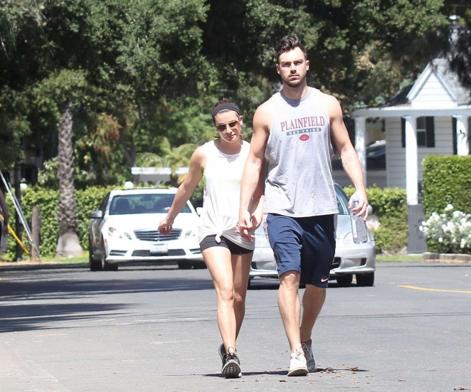 Lea Michele in Short Shorts -13
