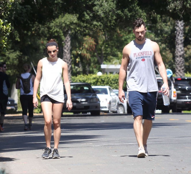 Lea Michele in Short Shorts -23