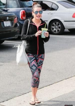 Lea Michele in Legings out in LA
